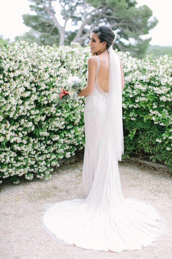 Wedding Dresses: Illustration Description Beaded scoop back wedding ...