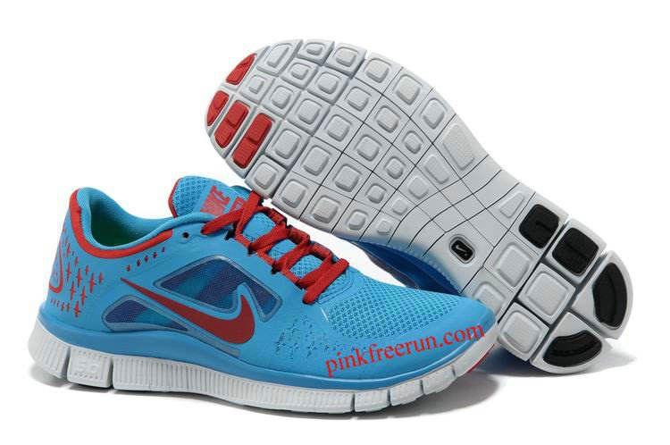 official photos 1d7b9 9a9dc Blue Glow University Red Pro Platinum Nike Free Run 3 Men's Running Shoes.  Vendre Pas Cher ...