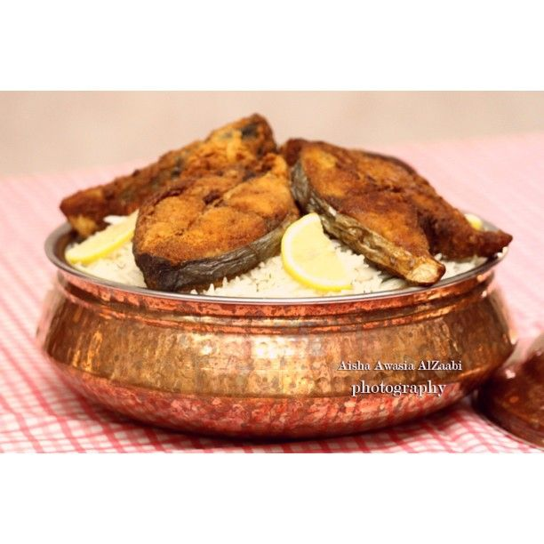 رز بالشبنت و سمك مقلي Food Arabic Food Recipes