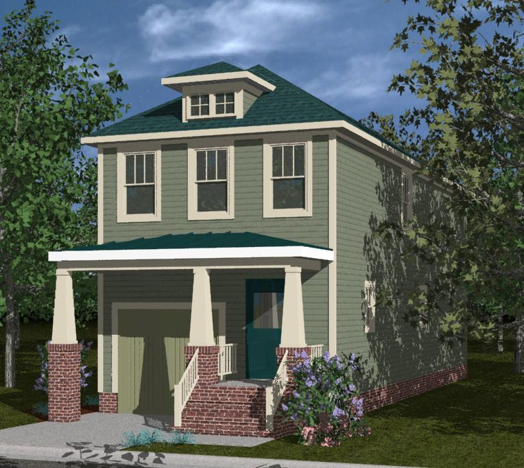Plan 30060RT: Nineteen Foot Narrow Home Plan (With Images