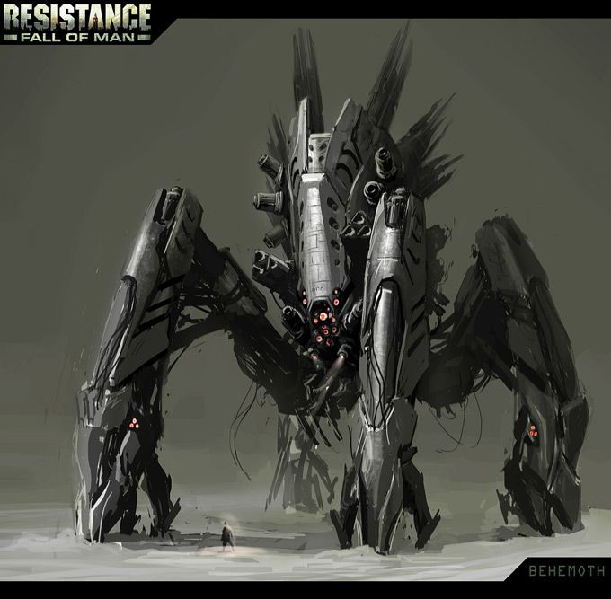 Resistance Fall Of Man Concept Art By Rodrigo Ribeiro Concept Art World Concept Art Robots Concept Robot Concept Art