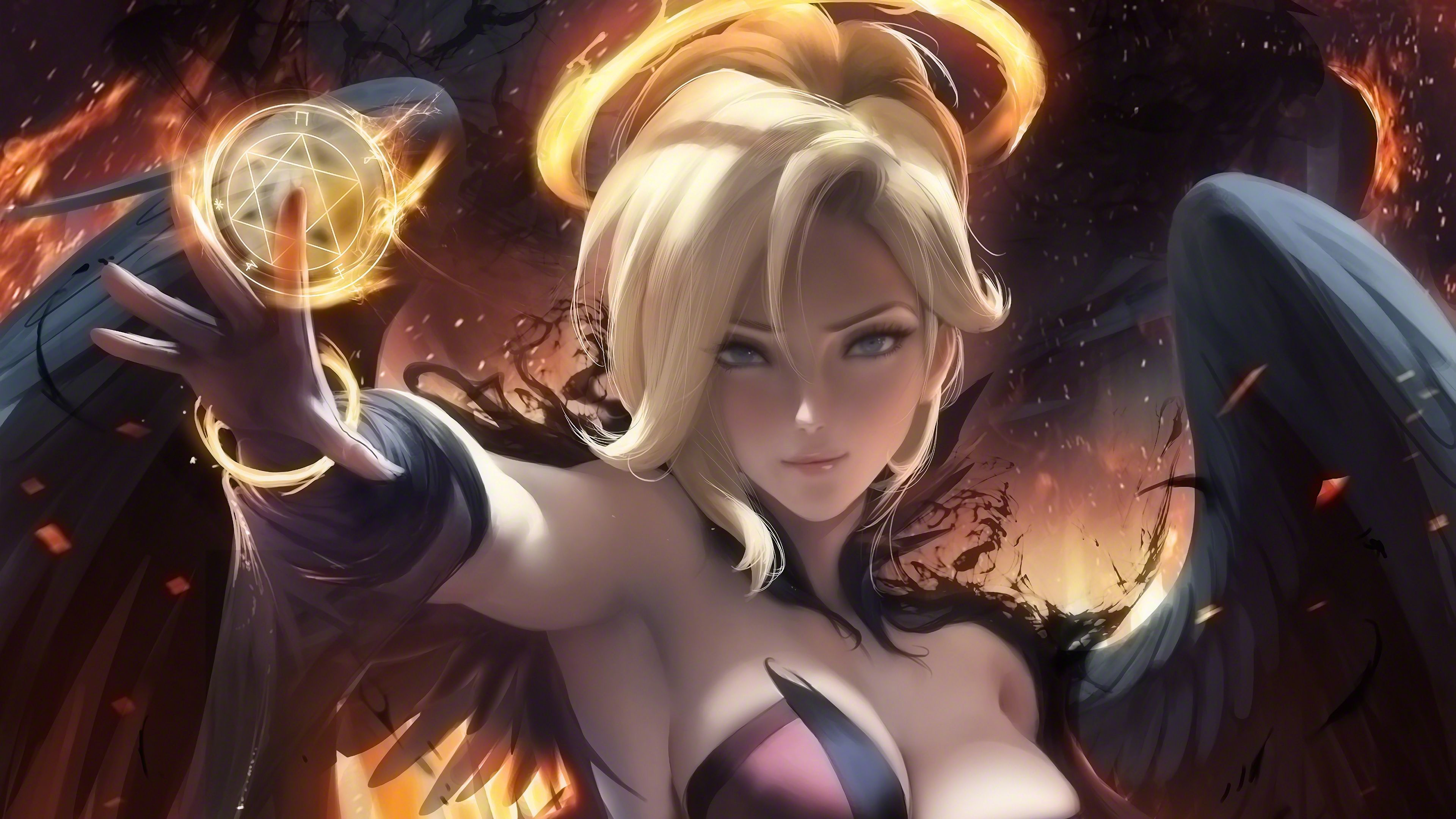 Download Page 4k Witch Mercy Overwatch Overwatch Video Game Mercy Overwatch Overwatch