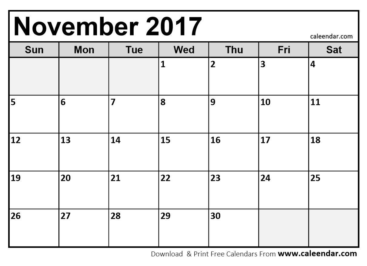Blank November  Calendar In Printable Format  Invoice