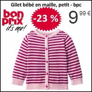 #missbonreduction; Economisez 23 % sur le Gilet bébé en maille, petit - bpc chez Bonprix.http://www.miss-bon-reduction.fr//details-bon-reduction-Bonprix-i222-c1832937.html