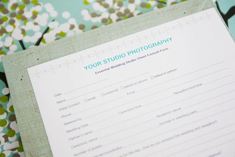 Wedding Studio Client Consult Form
