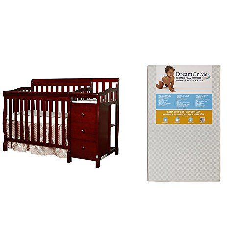 Incroyable Dream On Me Jayden 4 In 1 Convertible Portable Crib W/ Changer With Dream  On Me 3 Portable Crib Mattress White | Babby Products | Pinterest | Crib  Mattress, ...