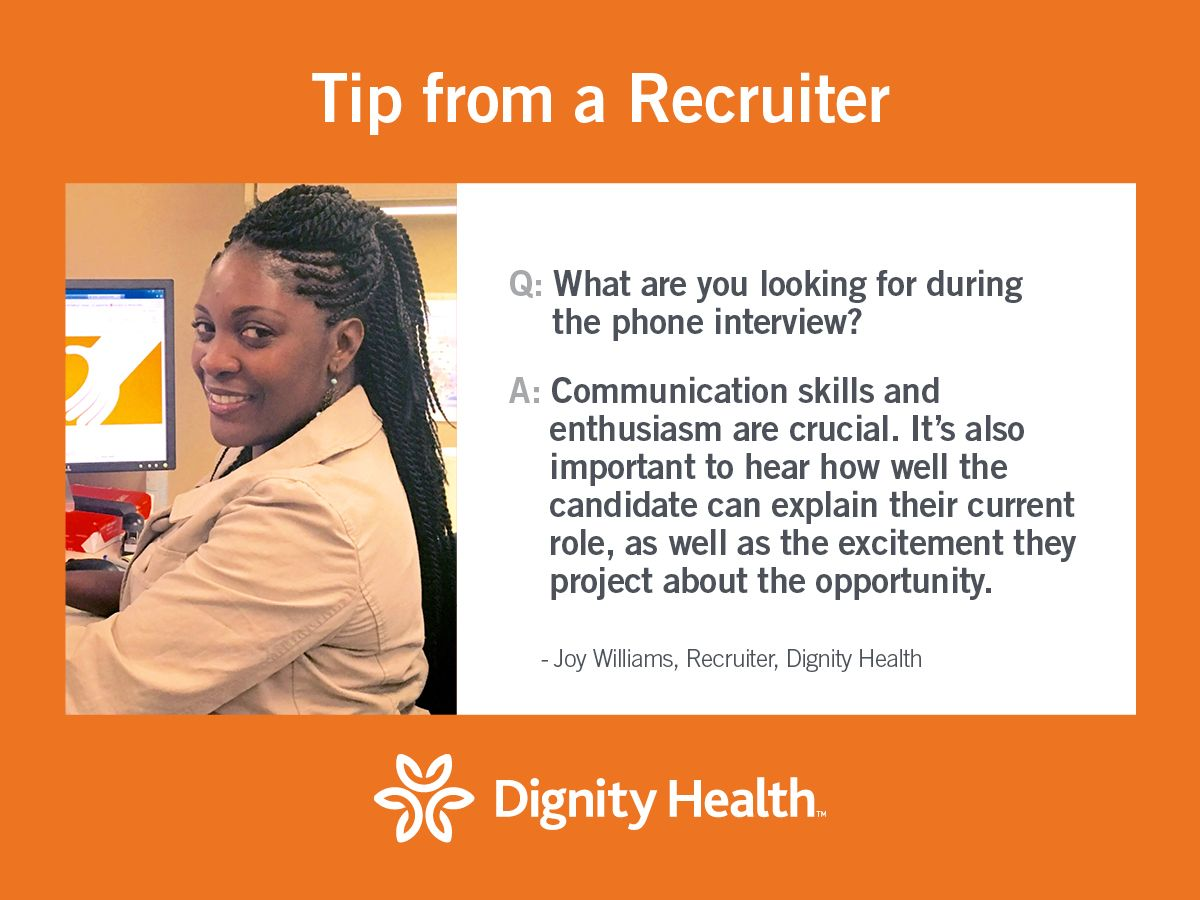 Superb Check Out This Phone Interview Tip And Prep For Your Interview With  Dignity Health!