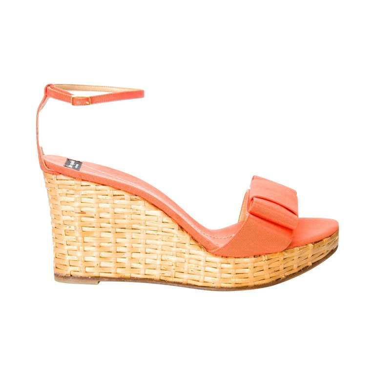 4b141b3fc6c8 New Kate Spade Spring 2005 Collection Wicker Cabo Wedge Heels Sz 9 ...