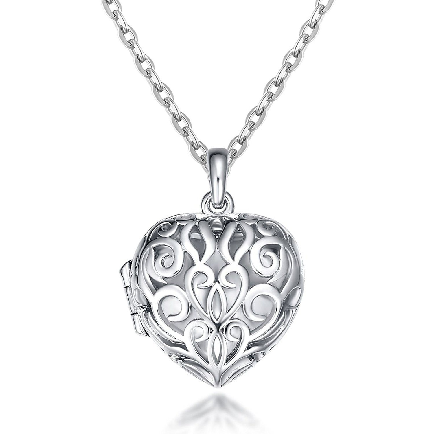 Ct gold plated locket neclace heart infinity love pendant necklace