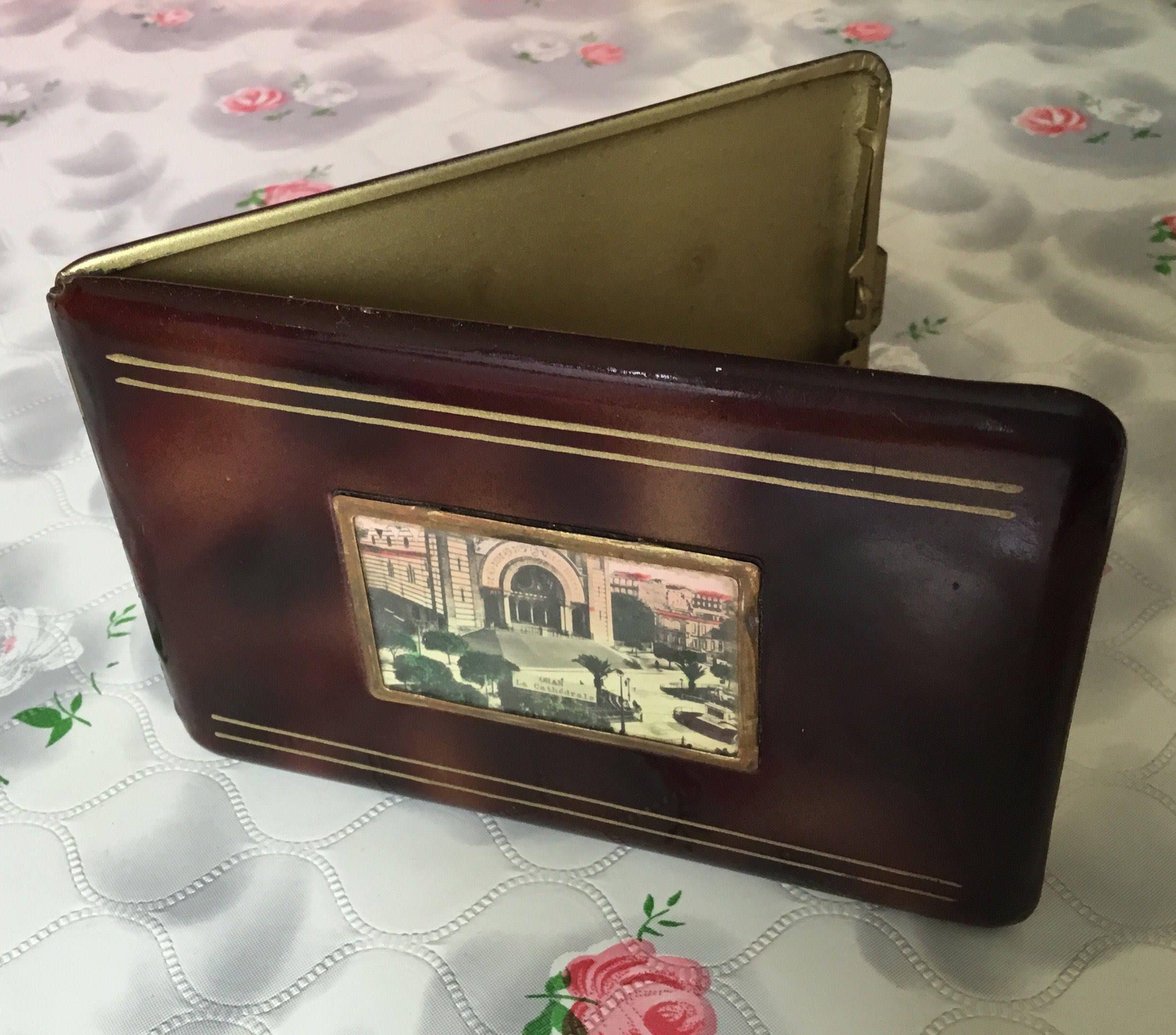 Vintage cigarette case, plastic cigarette holder, Algeria souvenir ...