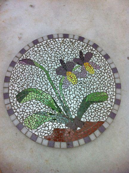 Orquideas Bandeja Giratoria Mosaico Com Imagens Bandeja