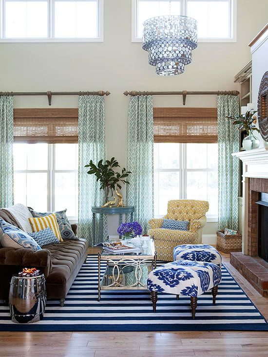 6 ways window treatments can make your living room better - Living room picture window treatments ...