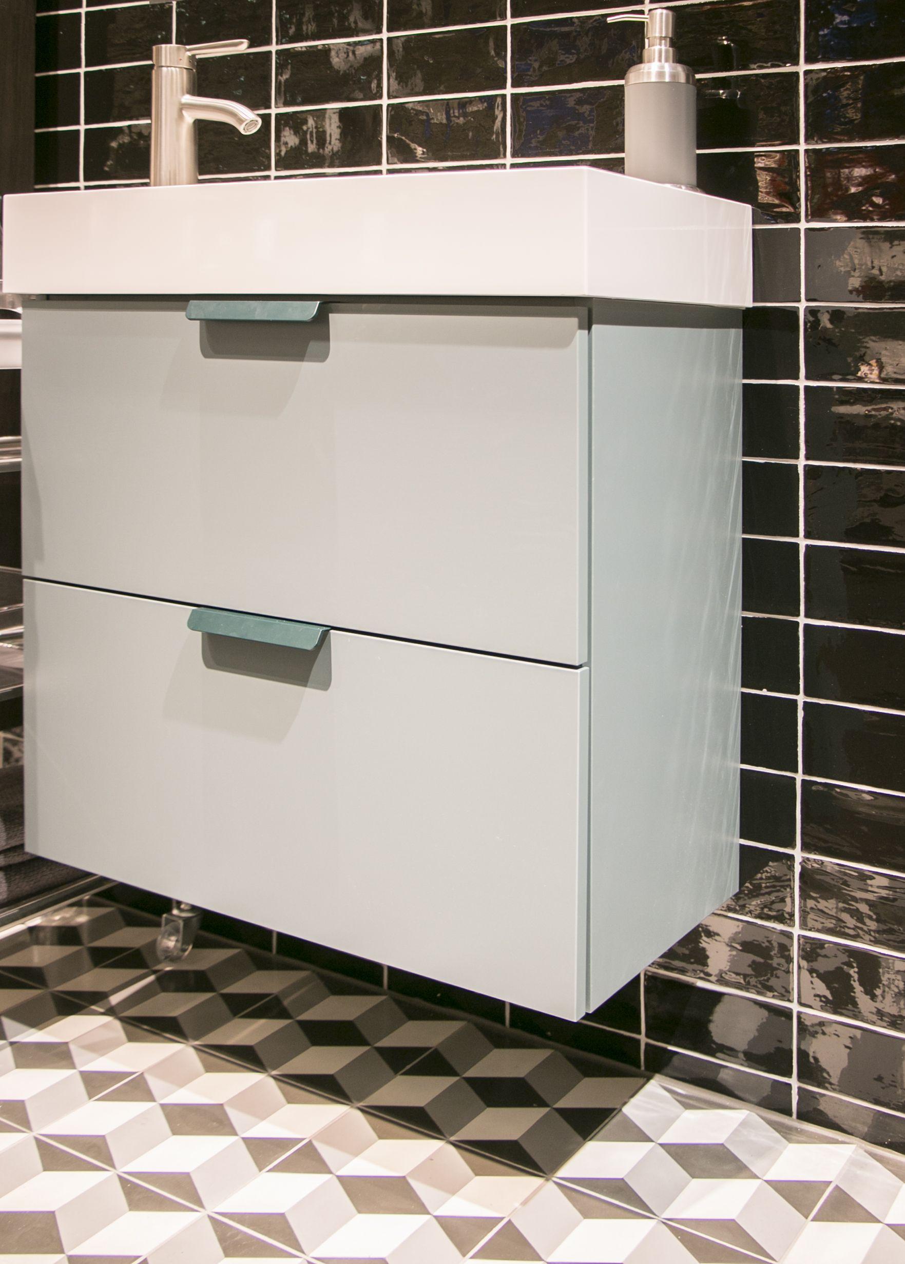 Designtegels bij IKEA. Badkamer stijlkamers met Portugese ...