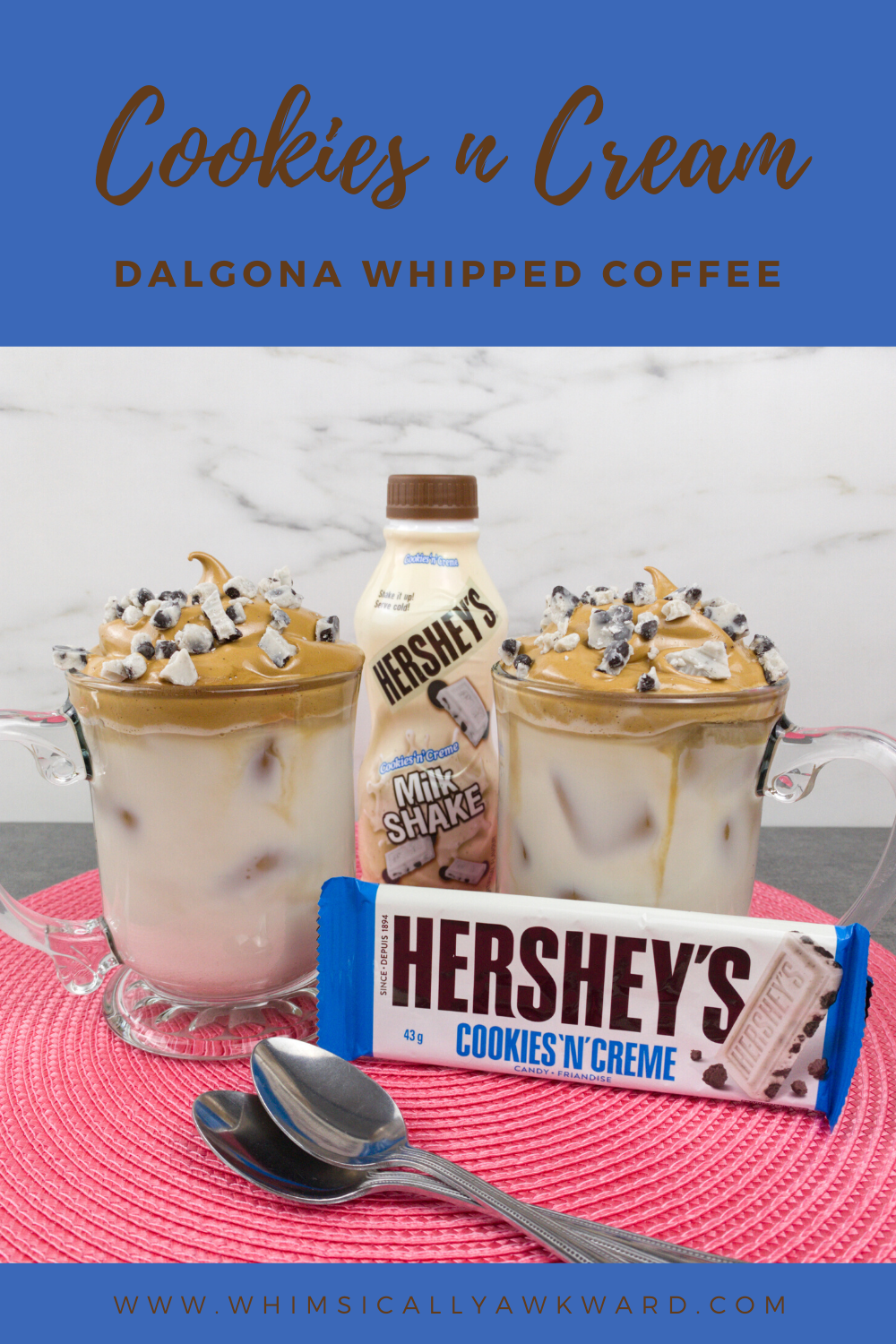 Cookies and Cream Whipped Coffee TikTok Coffee Dalgona