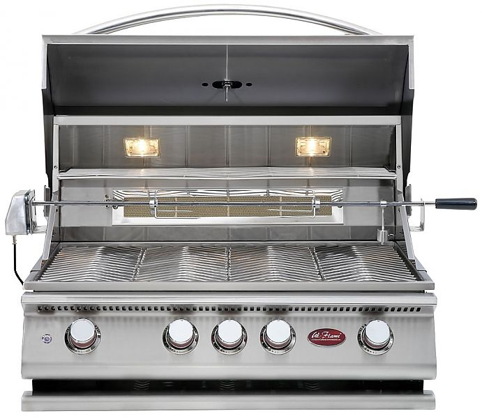 Cal Flame Free Accessories Package 4 Burner Bbq Built In Gas Grill Seattleluxe Com Cal Flame Outdoor Kitchen Built In Grill