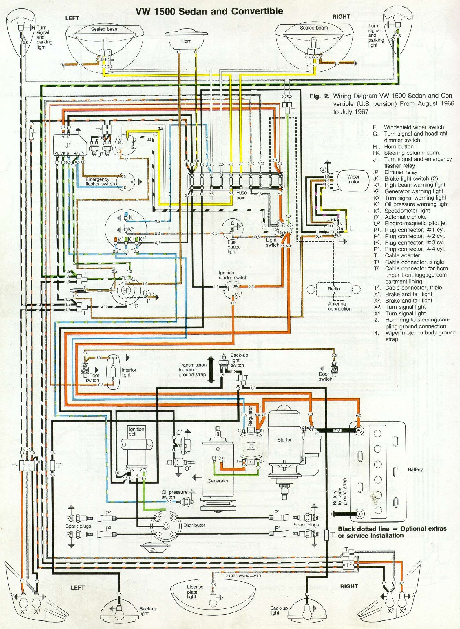 Thesamba Com Type 1 Wiring Diagrams And 1969 Vw Beetle Diagram Volkswagen Kevers Vw Kevers Kever