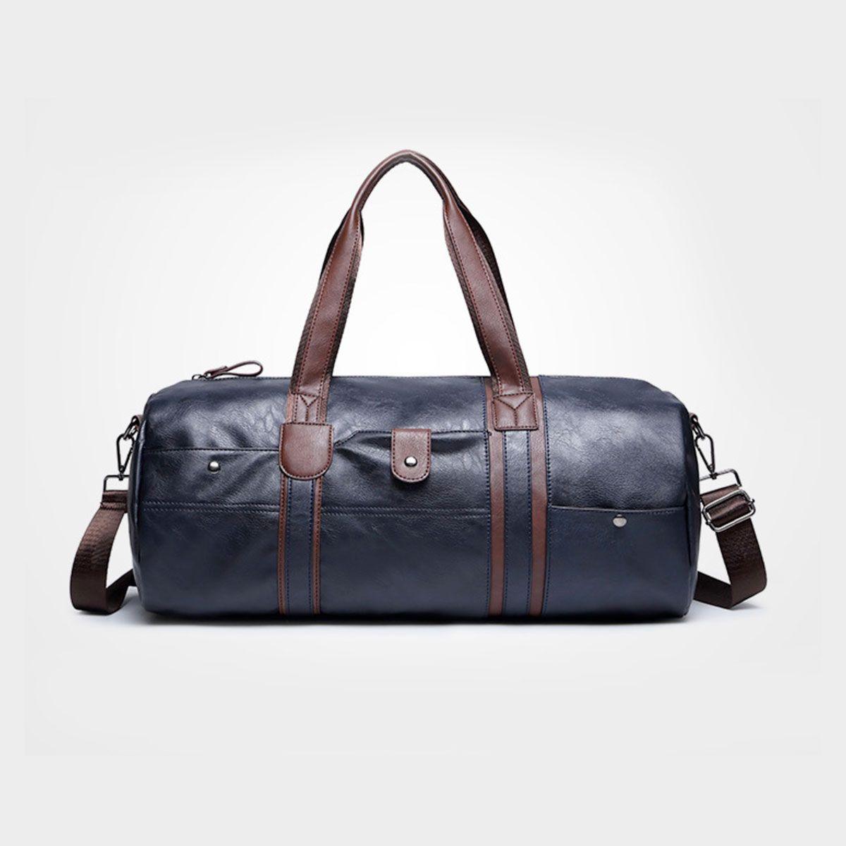 2016 NEW Men leather travel duffle bag sac de voyage Cossbody Small Business  handbags bolsa de couro masculina 07cb31f5eb