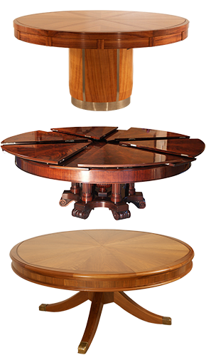 Solid Wood Dining Table, Cool Round Table
