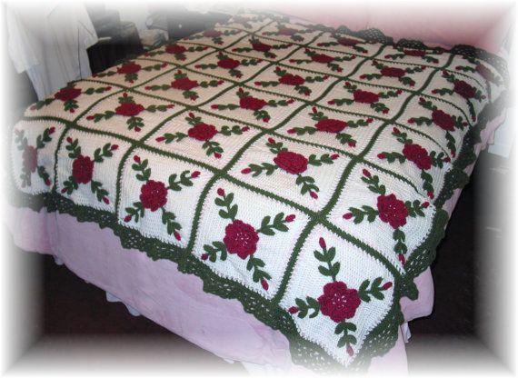 Rasberry rosas manta afgana tiro - hecho fresco después de la venta ...