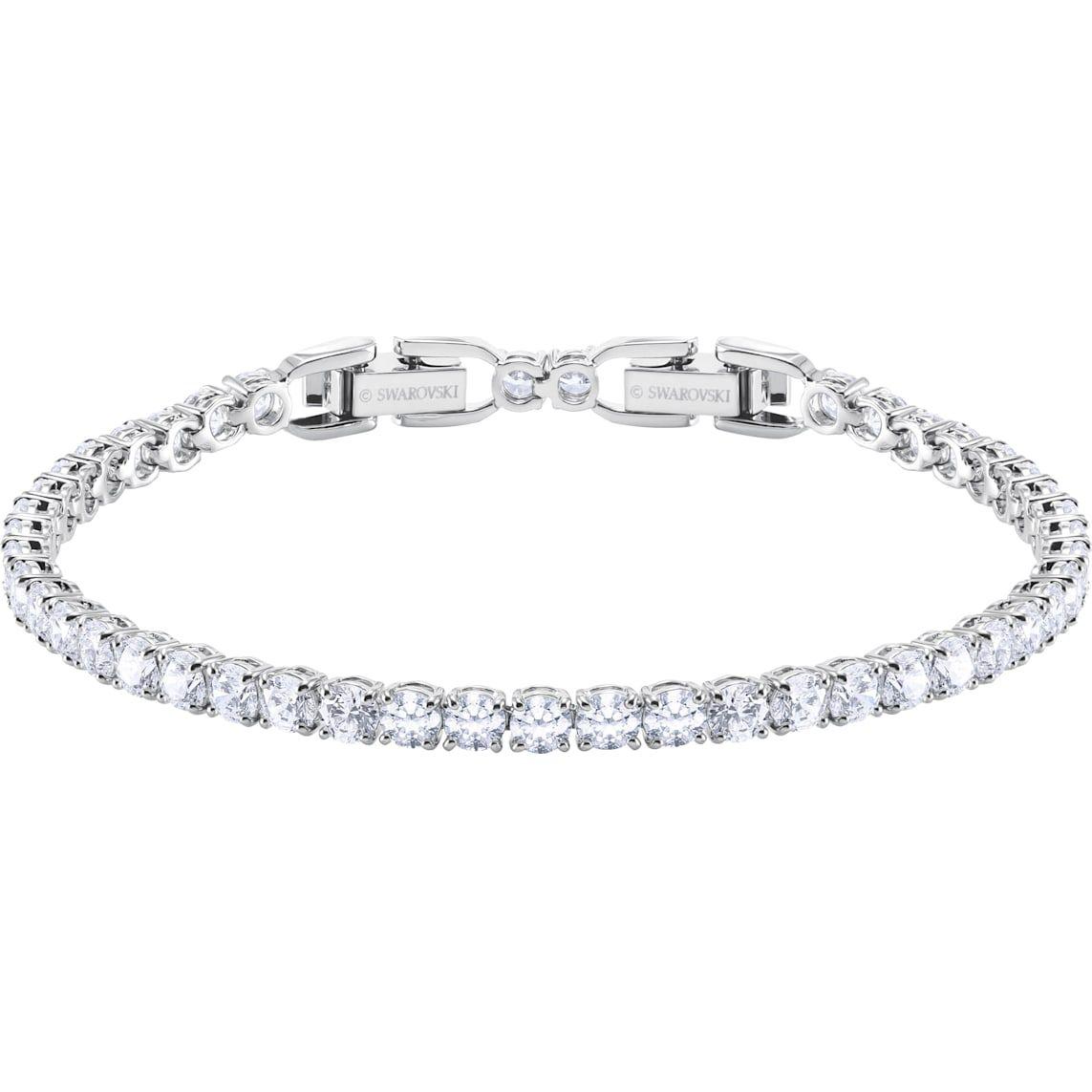Tennis Deluxe Bracelet White Rhodium Plated Swarovski Bracelet Swarovski Jewelry Jewelry