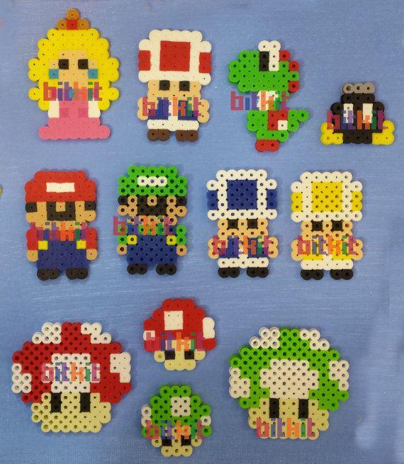 Super Mario Bros DIY Fuse Bead Kits and Figures (14x14