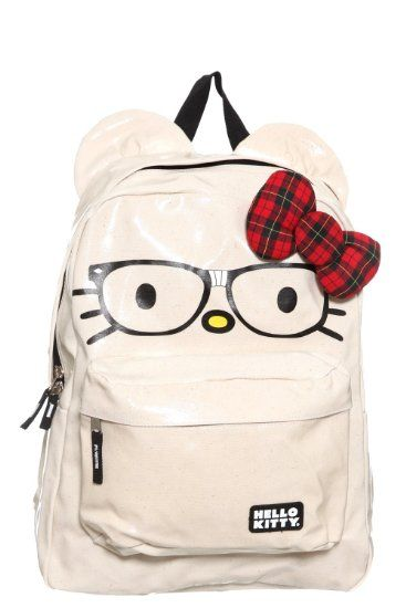 29e8a4359961 Amazon.com  Loungefly - Hello Kitty Nerd Backpack with Plaid Bow  Clothing