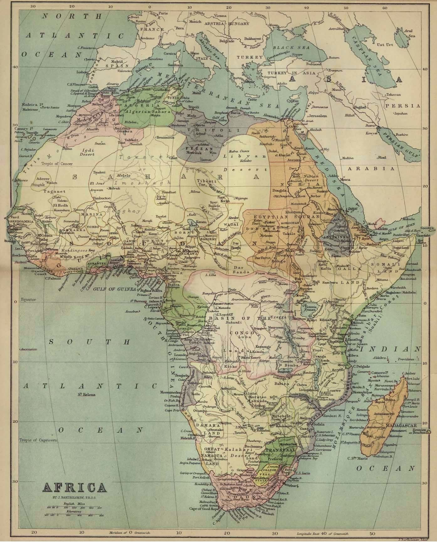 Map Of Africa And The Colonies With Images