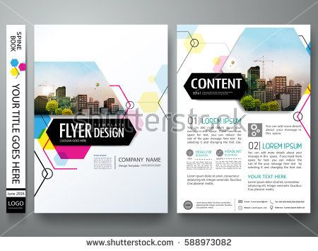 Portfolio design template vectorminimal brochure report business portfolio design template vectorminimal brochure report business flyers magazine poster abstract pink and blue hexagon on cover book presentation friedricerecipe Images