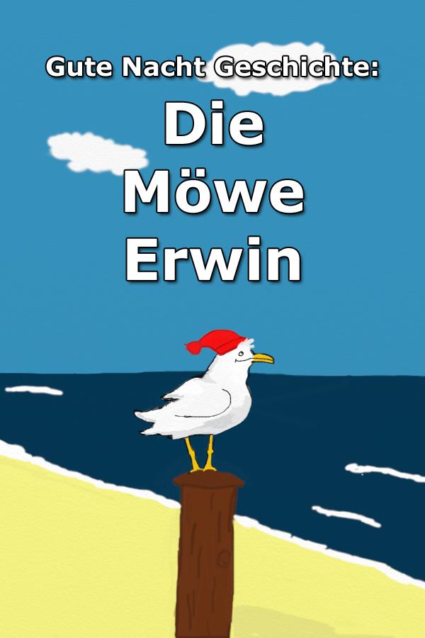 Die Möwe Erwin Gute Nacht Geschichte über eine Möwe, die