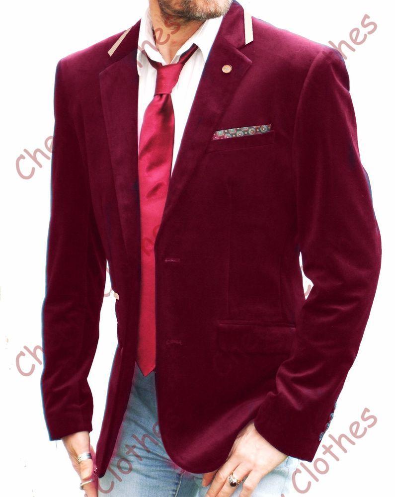 Mens Velvet Wine Red Burgundy Jacket Blazer Sport Jacket Slim Fit All Sizes Sports Blazer Burgundy Jacket Navy Blue Jacket
