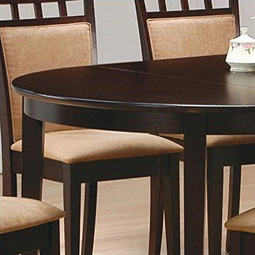 Coaster Contemporary Oval Dining Table Cuccino Finish Dimensions