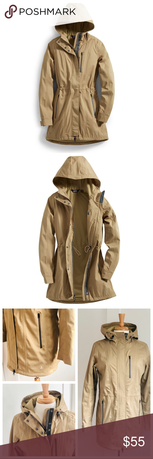 296eee03c Eastern Mountain Sports EMS Mist Rain Trench szM Excellent, like new,  condition! Eastern