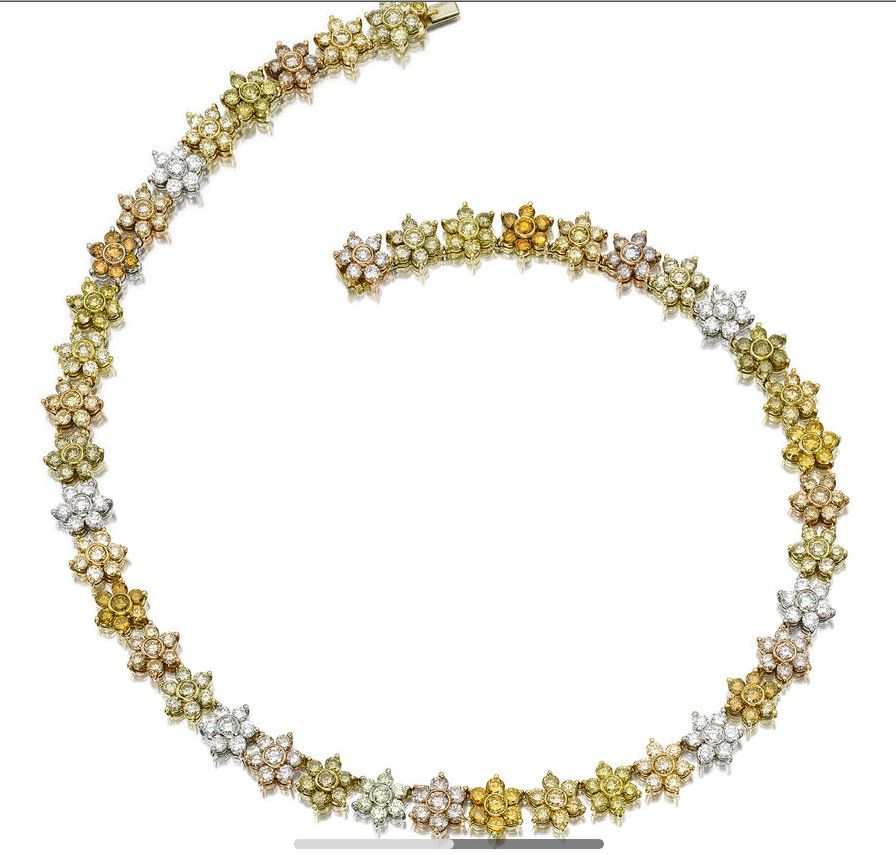 Natural Yellow and Yellowish Orange Necklace