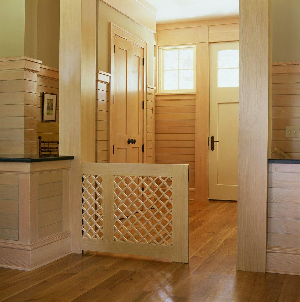 Splashy Dog Gates Indoor In Entry Craftsman With Dog Gate