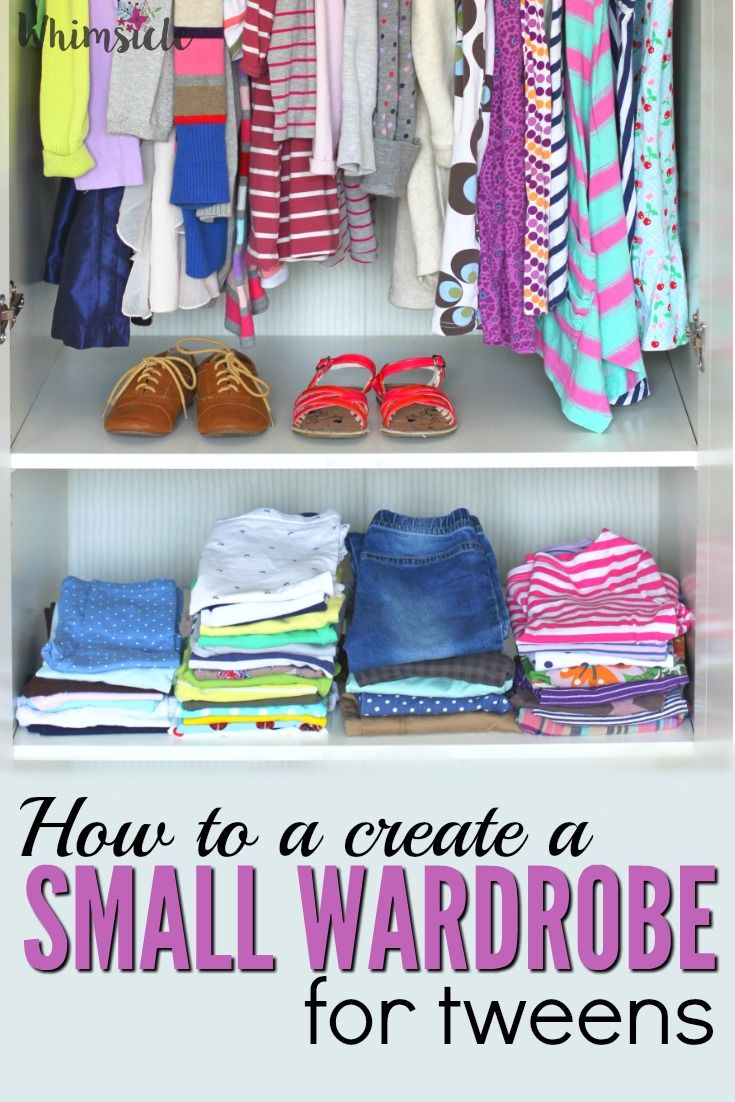 How to Create a Tween's Small Wardrobe