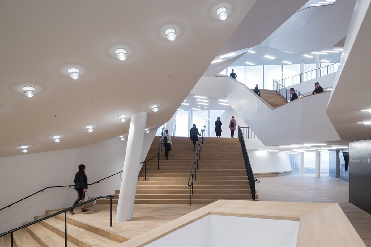 The Plaza Of The Elbphilharmonie By Herzog De Meuron Officially Opened To Public In Hamburg Elbphilharmonie Concert Hall Concert Hall Elbphilharmonie Hamburg