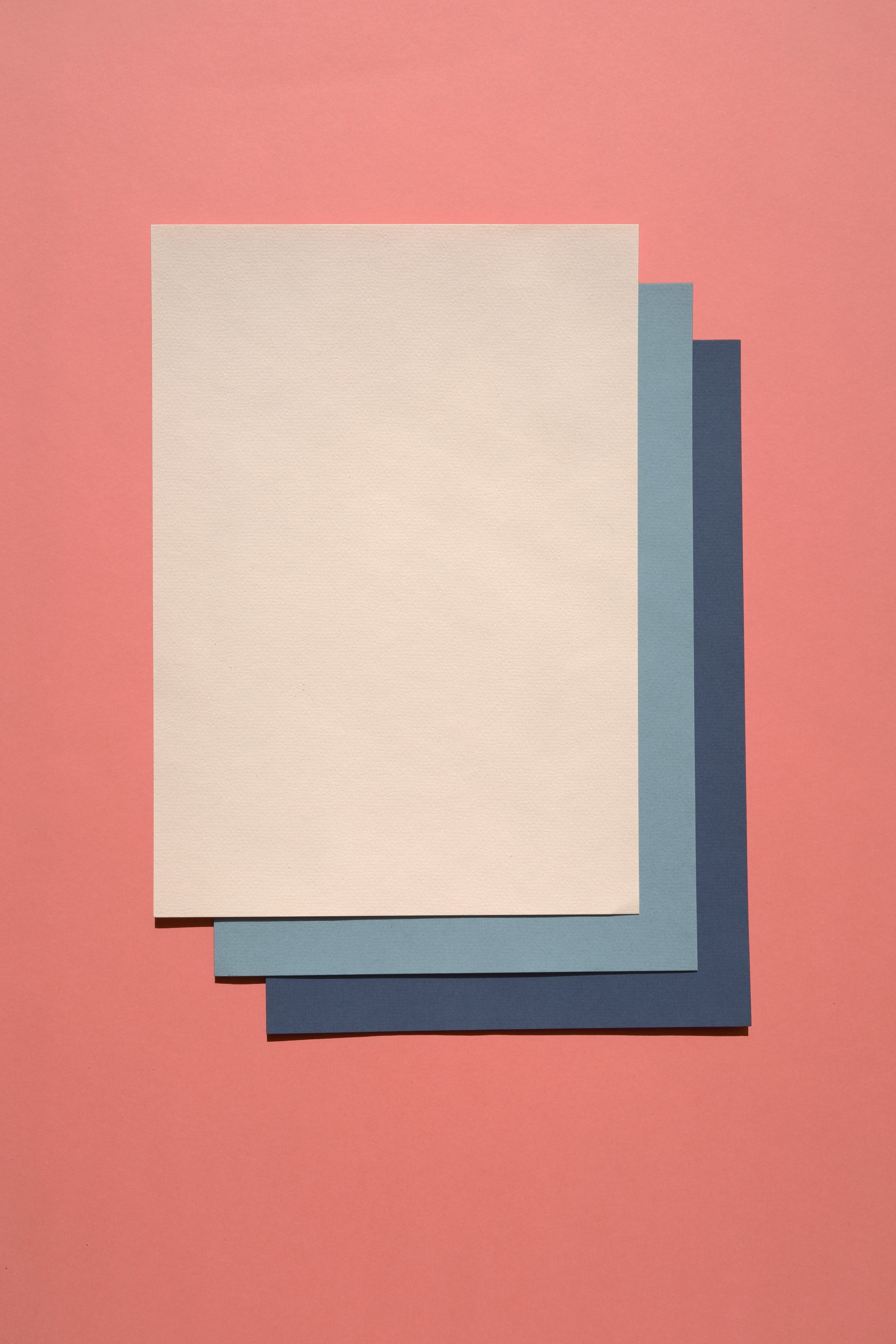 white and blue paper in 2019