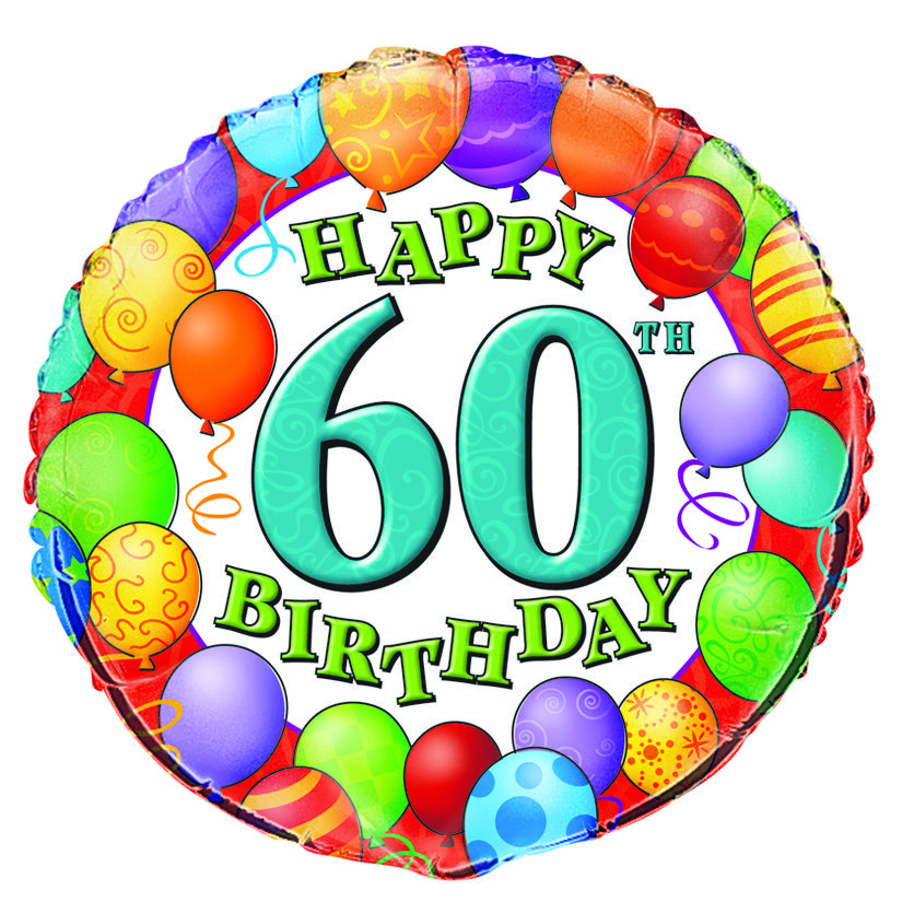 Happy 60th Birthday Mylar Balloon