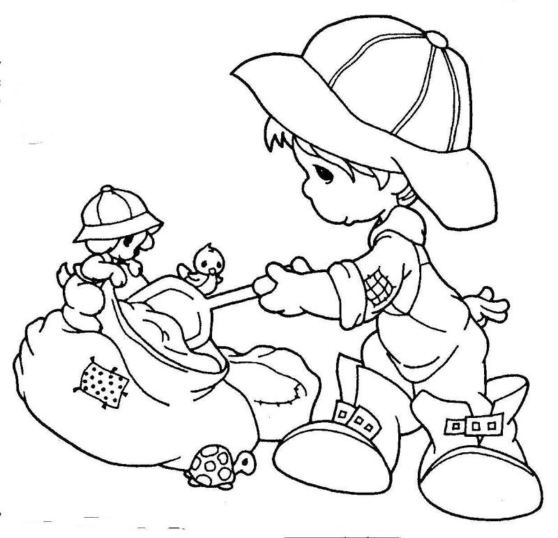 Coloring Pages precious moments Precious moments Pinterest - new simple nativity scene coloring pages