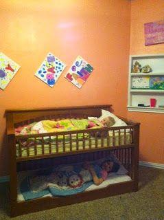 Crib to Toddler bunkbed