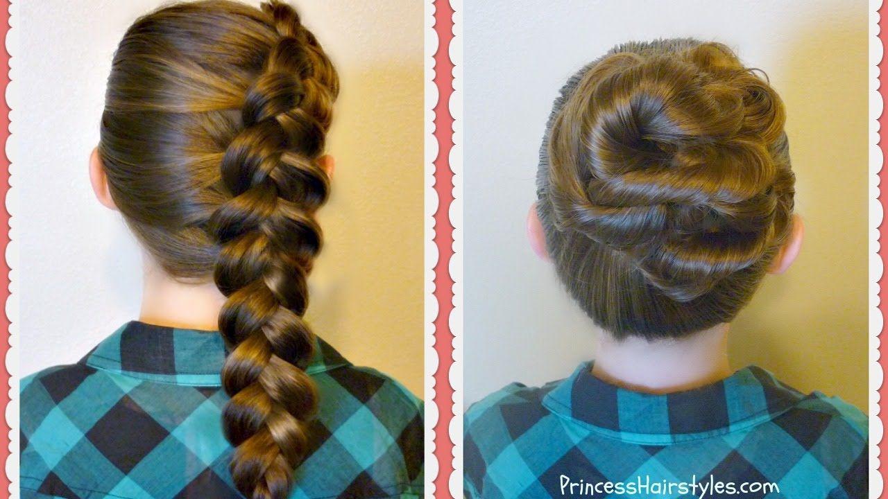 Cute Hairstyles For School 2 Easy Back To School Hairstyles Side Dutch Braid & Messy Bun Twist