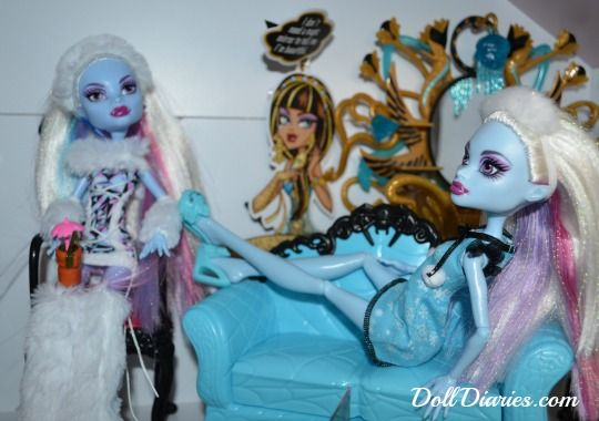 Monster High Abbey Bominable, I found this pic at doll diaries,com. I think its cute the way they're set up!