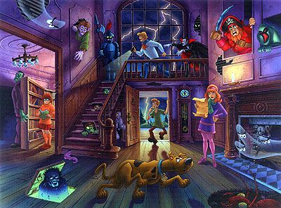 Scooby doo haunted house by vince mussacchia halloween - Cartoon haunted house pics ...