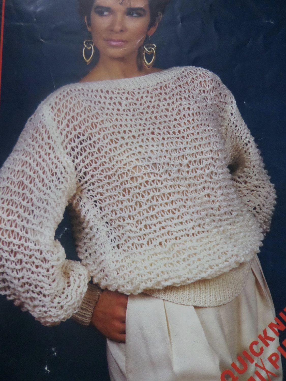 Knitting pattern women ladies easy knit jumper sweater dk 30 40 knitting pattern women ladies easy knit jumper sweater dk vintage by craftybylulu on etsy bankloansurffo Choice Image
