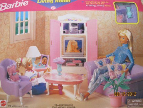BARBIE LIVING ROOM PLAYSET w Entertainment Center « Game Searches ...