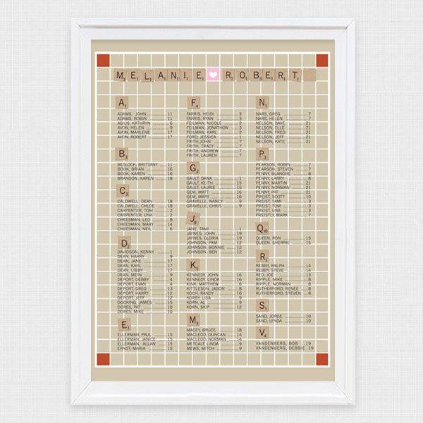 alphabet word game seating chart \/ plan - printable file $6500 - printable seating charts