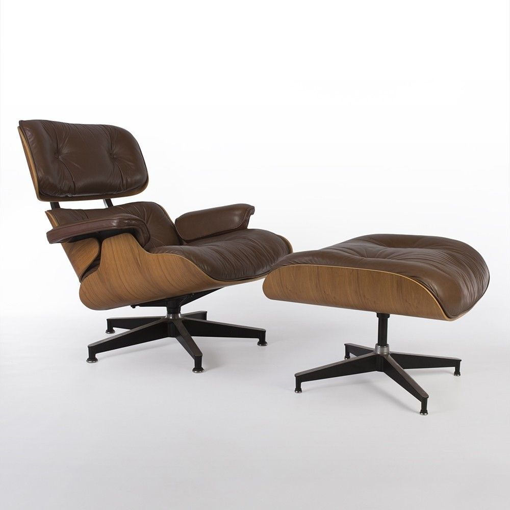 Original Brown U0026 Walnut Herman Miller Eames Lounge Chair U0026 Ottoman Amazing Pictures