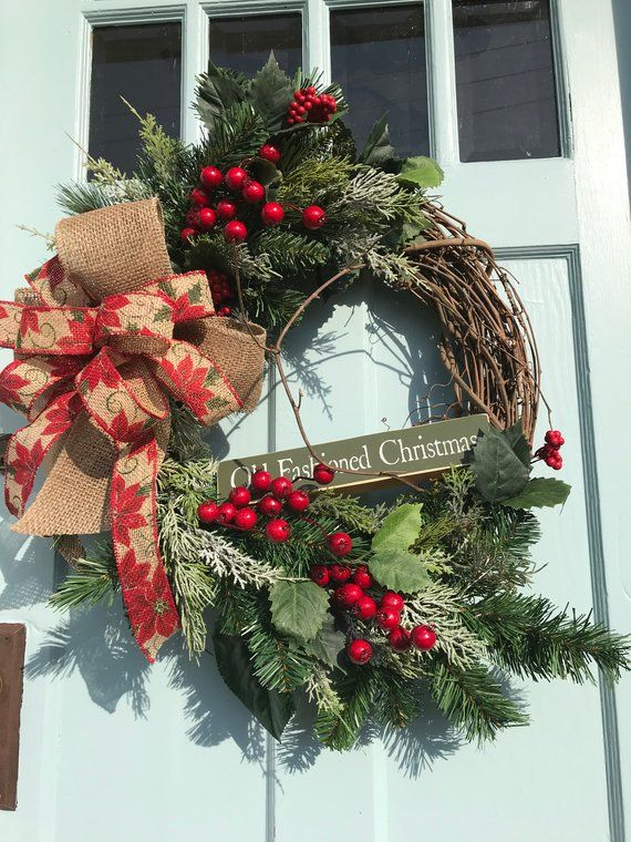 "FREE Shipping! Beautiful ""Old Fashioned Christmas"" Pine ..."