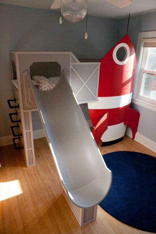 Rocket Ship Bed With Slide Girls Clothes Ages 5 8 Room Kid