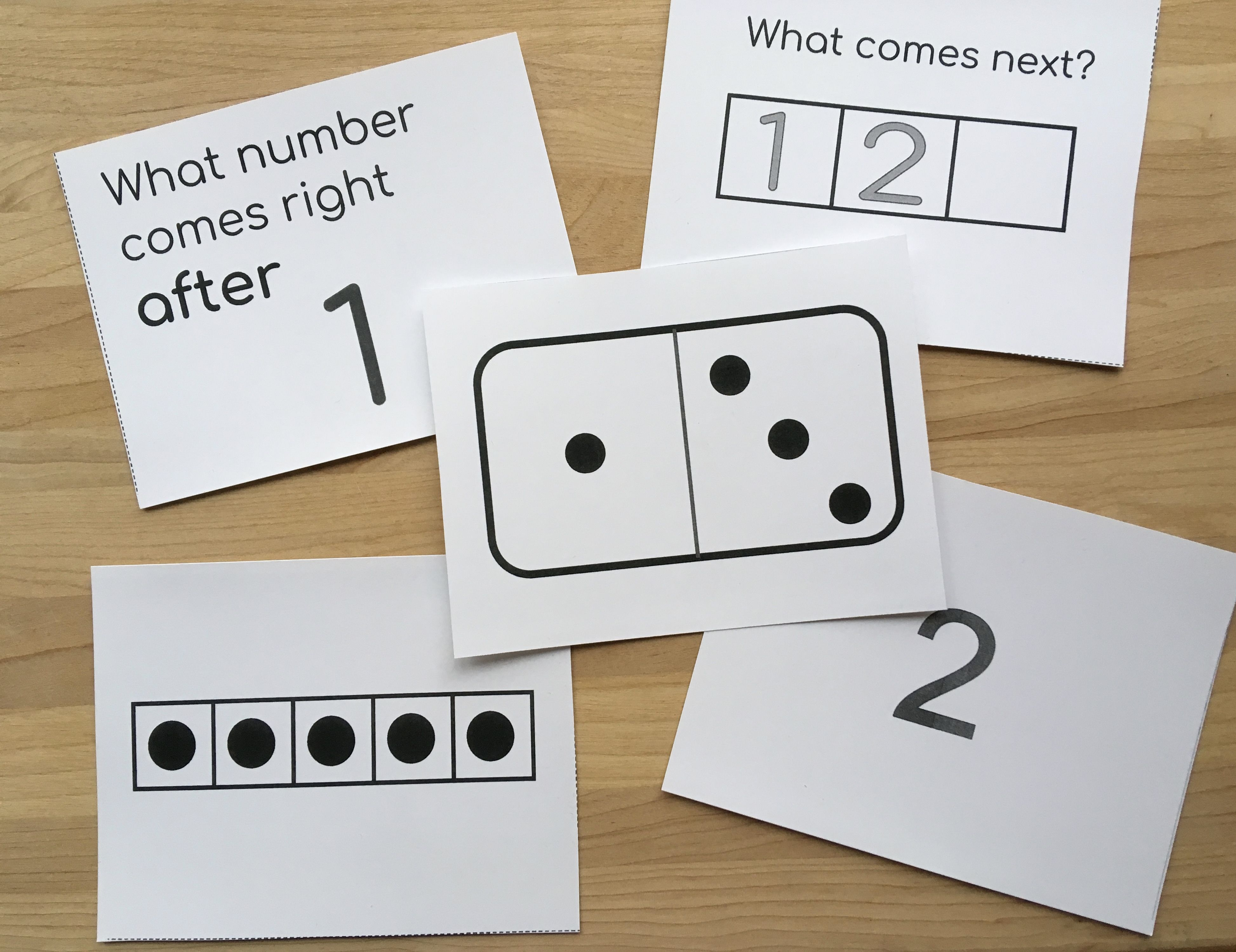 Number Combination Cards With Totals Up To Five Math Groups Number Combinations Cards